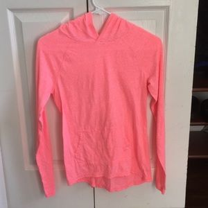 🧡🔹Bright Pink Hooded Shirt Girl's Small